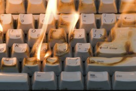 The burning keyboard